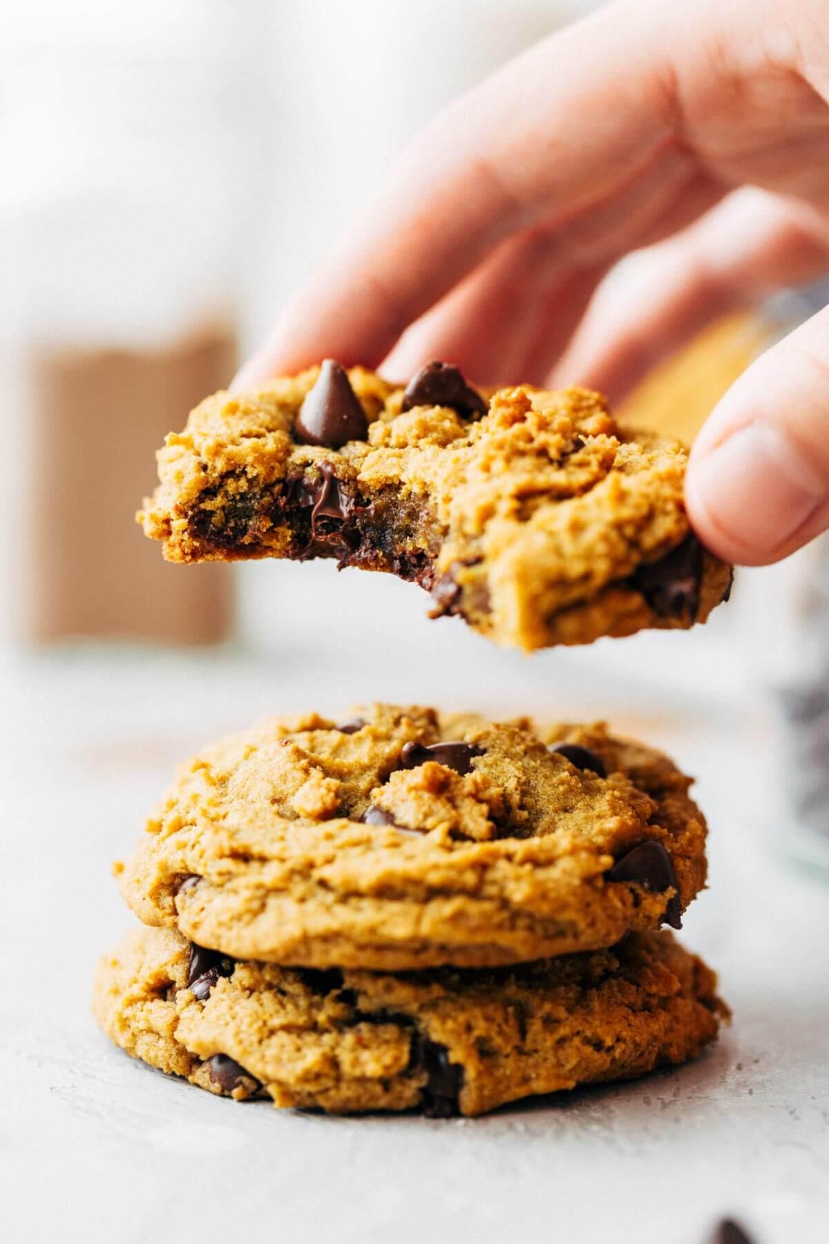 Chocolate Chip Vegan Pumpkin Cookie