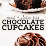 gluten free chocolate cupcakes pinterest graphic