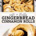 gingerbread cinnamon rolls pinterest graphic