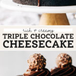chocolate cheesecake pinterest graphic