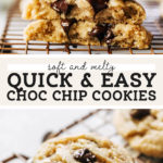 easy chocolate chip cookies pinterest graphic