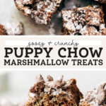 puppy chow marshmallow treats
