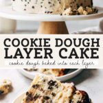 cookie dough cake pinterest graphic