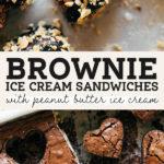 brownie ice cream sandwiches pinterest graphic