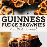 Guinness Brownies pinterest graphic