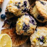 lemon blueberry muffins unwrapped