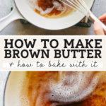 brown butter pinterest graphic