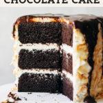 chocolate cake pinterest graphic