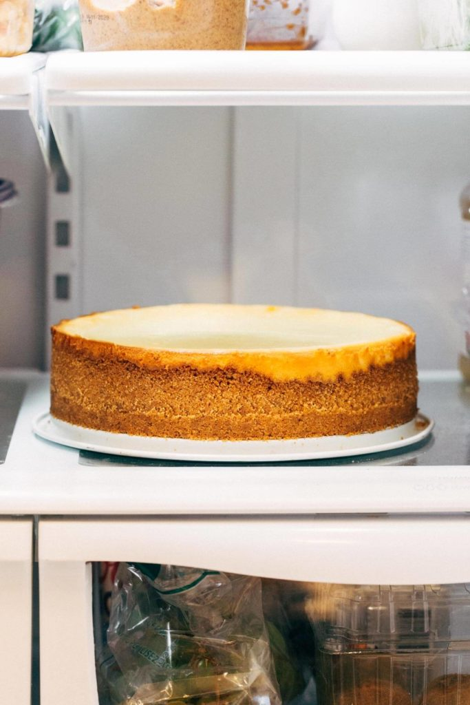 cheesecake in the fridge