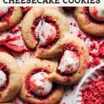 Strawberry Cheesecake Cookies pinterest graphic
