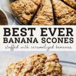 banana scones pinterest graphic