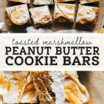 toasted marshmallow peanut butter cookie bars pinterest graphic