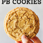 peanut butter cookies pinterest graphic
