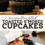 smores cupcakes pinterest graphic