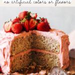strawberry cake pinterest graphic