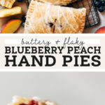 blueberry hand pies pinterest graphic