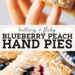 Peach Blueberry Hand Pies pinterest graphic