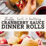 cranberry sauce dinner rolls pinterest graphic