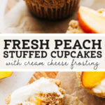 peach cupcakes pinterest graphic