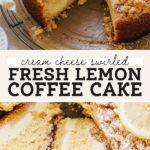 lemon coffee cake pinterest graphic