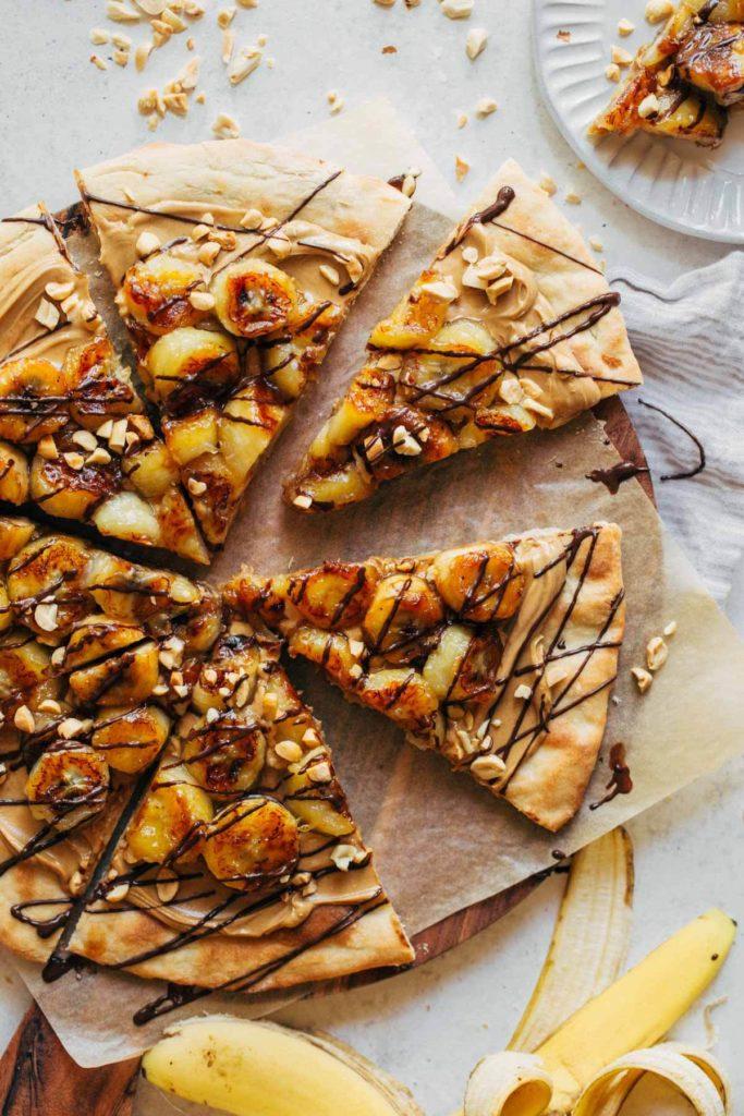 scattered dessert pizza slices