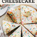 birthday cheesecake pinterest graphic