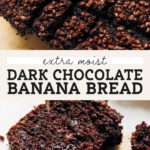 chocolate banana bread pinterest graphic