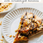 banana dessert pizza pinterest graphic