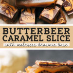 butterbeer caramel slice pinterest graphic