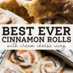 cinnamon rolls pinterest graphic
