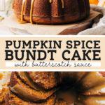 pumpkin bundt cake pinterest graphic