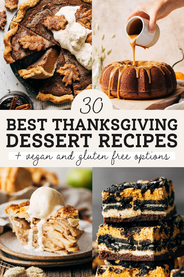 30 best thanksgiving dessert recipes graphic