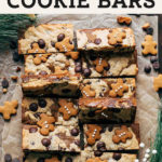 gingerbread cookie bars pinterest graphic