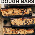 cookie dough bars pinterest graphic