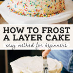how to frost a cake pinterest graphic
