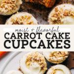 carrot cake cupcakes pinterest graphic