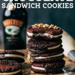 chocolate sandwich cookies pinterest graphic