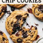 vegan chocolate chip cookies pinterest graphic