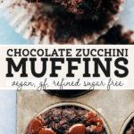 chocolate zucchini muffins pinterest graphic