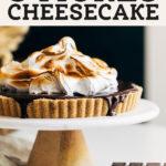 smores cheesecake pinterest graphic