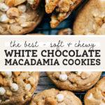 white chocolate macadamia nut cookies pinterest