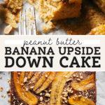 banana upside down cake pinterest graphic