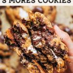 snickerdoodle smores cookies pinterest graphic