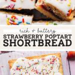 strawberry shortbread pop tart