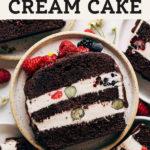 vegan ice cream cake pinterest graphic