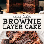 brownie cake pinterest graphic