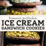 pistachio ice cream sandwiches pinterest graphic