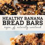 banana bread bars pinterest graphic