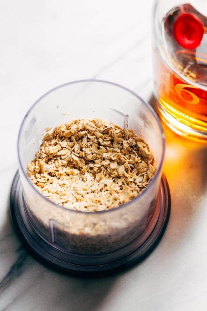 oats soaking in bourbon