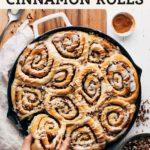 maple pecan cinnamon rolls pinterest graphic